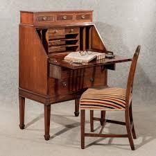 Secretary Writing Desk by Antique Writing Desk Bureau Edwardian Mahogany Quality Bon Heur Du