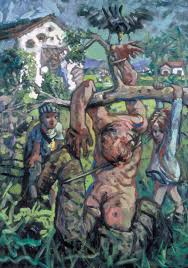 Mural Painting On Canvas by Plum Grove U0027 Peter Howson 1994 Tate