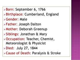 Was John Dalton Color Blind John Dalton Biography