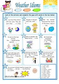 weather idioms inglés pinterest idioms and weather