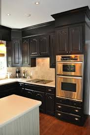 kitchen vintage large lamp meets black kitchen cabinets with