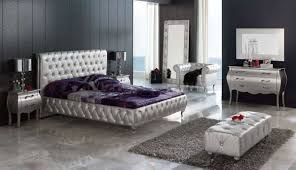 bedroom white modern bedroom sets with high headback and wood modern bedroom sets king in glowing silver color design and silver bedroom chairs on dark