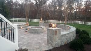 Fire Columns For Patio Photo Galleries Site Works Manassas Virginia 703 335 2571