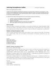 Confirmation Of Appointment Letter Sample Joining Letter