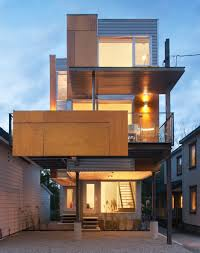 Semi Detached Home Design News Front To Back Infill Semi Detached House In Ottawa Canada By