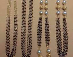 black pearl chain necklace images Black diamonds black beads chains jpg