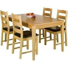 argos kitchen furniture ex argos winslow oak veneer wood dining table 120cm amazon