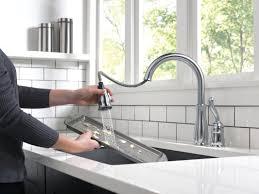 Standard Kitchen Faucet Delta Leland Single Handle Pull Down Standard Kitchen Faucet
