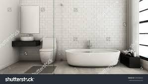 3d bathroom design bathroom design modern loft 3d render stock illustration 525506665