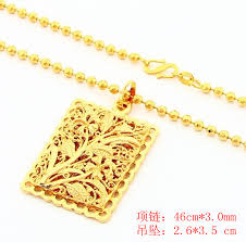 golden jewelry necklace images 2014 new fashion women man design pearl square pendant golden jpg