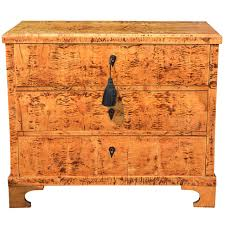 Tiger Maple Furniture 19th C Biedermeier Tiger Eye Maple Chest At 1stdibs