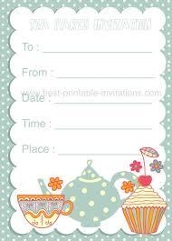 blank invitations blank tea party invitation template europe tripsleep co