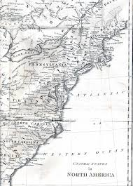 Us East Coast Map 1800 U0027s Pennsylvania Maps