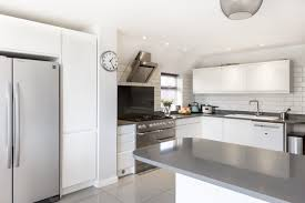 kitchen modern white kitchen cabinet with grey countertop also