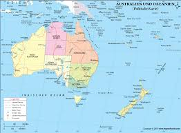 map of australia and oceania countries and capitals oceania map