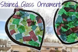 stained glass ornament preschool christmas craft idea building