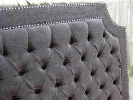 grey upholstered headboard with nailheads home design ideas