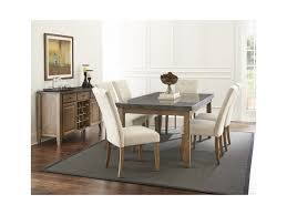 Silver Dining Room Set by Steve Silver Debby Transitional Rectangular Dining Table With