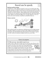 5th grade science worksheets how sound travels greatschools