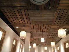 How To Finish A Basement Ceiling by Pallet Ceiling Installation Pallets Ceilings And Urban