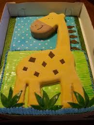 Butter Cream Frosting Baby Shower Giraffe Cakes Images Boys Baby