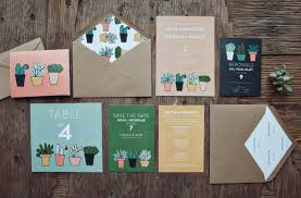 succulent wedding invitations foodie wedding invitations by yours is the earth green wedding