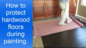 how to protect hardwood floors during painting the interior