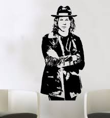 online get cheap wall decorative stripe aliexpress com alibaba jack white poster wall vinyl sticker singer white stripes raconteurs music decal art decor bar club
