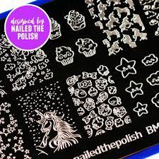 bundle monster nail stamping plates u0026 nail art accessories