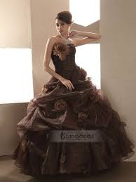 brown wedding dresses wedding dresses with color brown