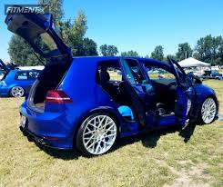 volkswagen golf custom 2016 volkswagen golf r rotiform blq custom lowering springs
