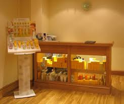 Reception Desk With Display Creative Refurbishment Ltd Cabinets Display Cases Wine Rack