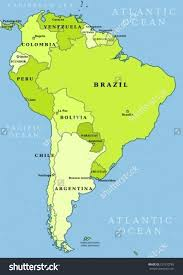 south america map capitals countries south maps of the world