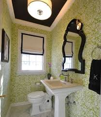 White And Green Bathroom - interesting black and green color combos used in interior décor