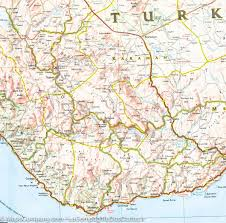 Map Turkey Map Of The Mediterranean Coast Of Turkey National Geographic