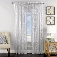 Lace Curtain Lace Curtains Reef Lace Curtain Panel By Lorraine Home Fashions