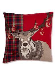 Stag Cushions Christmas Stag Cushion M U0026s