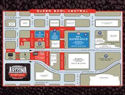 Map Of Phoenix Arizona by Touchdown Downtown Phoenix Scores Super Bowl Central Downtown