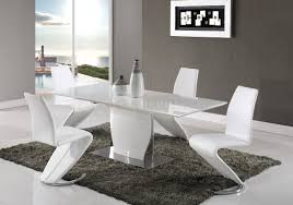 d2279 dining table in white by global w optional white chairs