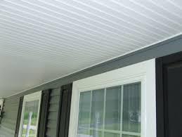 vinyl porch ceiling beadboard 18 11 install on 14 teamns info