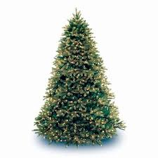 national tree pre lit 7 1 2 feel real jersey fraser fir hinged
