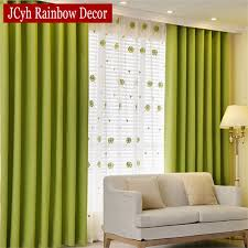 Room Divider For Kids by Aliexpress Com Buy Solid Blackout Curtains For Bedroom Green