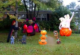 inflatable halloween yard decorations halloween houses decorated
