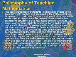 philosophy of teaching mathematics ppt download