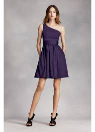 satin sash one shoulder dress with satin sash david s bridal