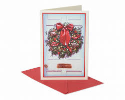 snowy front door wreath christmas boxed cards 14 count shop