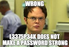 Password Meme - panda strike your password policy is wrong