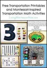 free transportation printables and montessori inspired
