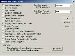 format date teradata kb9556 what are some of the recommended odbc dsn settings for