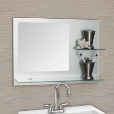 Chrome Bathroom Mirror Bathroom Decoration Using Mounted Wall Clear Glass Bathroom Shelf